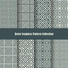 Celtic Knot Ornament Seamless Patterns