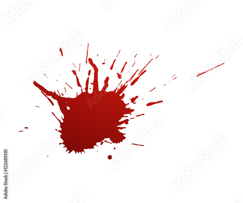 Bloodstains on a white background Fototapet