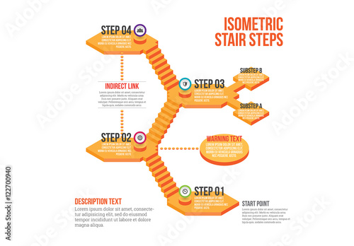 Isometric Stairs Infographic  Buy this stock template and explore