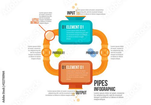 pipes infographic kaufen sie diese vorlage und finden sie. Black Bedroom Furniture Sets. Home Design Ideas