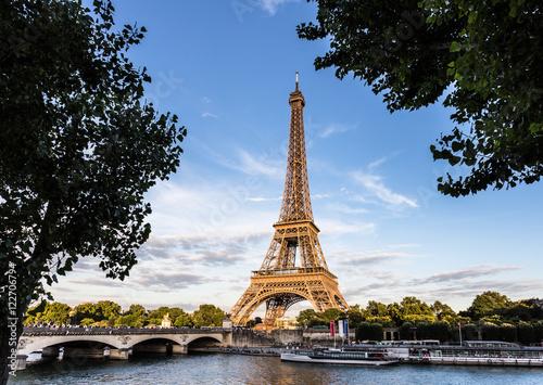 Printed kitchen splashbacks Sunset over the Eiffel Tower