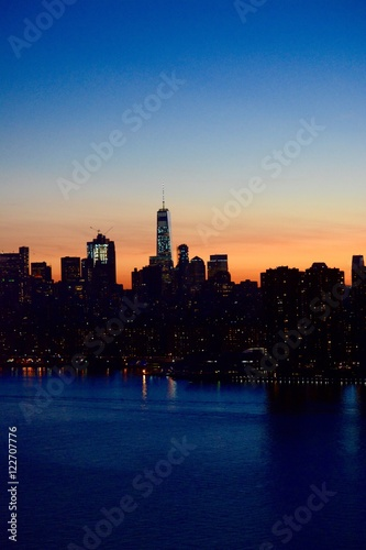 The Sun Sets on One World Trade Center Poster
