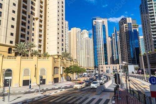 Fototapeta Nowoczesna droga w Dubaju