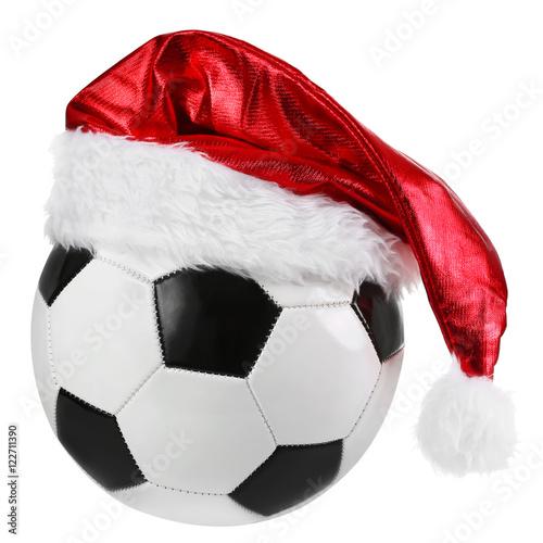 Fussball Weihnachten Freigestellt Auf Weissem Hintergrund