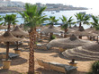 Beach in Egypt. Resort beach