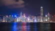 4k Time-lapse of Hong Kong city, view from Victoria Harbour