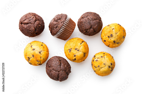 Tela The tasty muffins with chocolate.