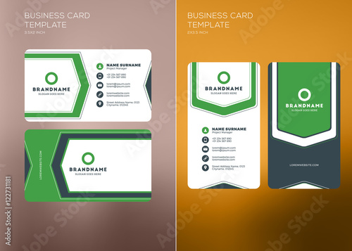 Corporate business card print template vertical and horizontal corporate business card print template vertical and horizontal business card templates vector illustration friedricerecipe Image collections