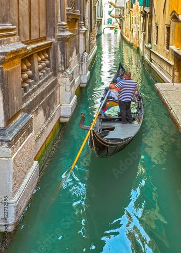 Spoed Foto op Canvas Gondolas Venice