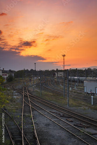 Montage in der Fensternische Leuchtturm Transport ferroviaire
