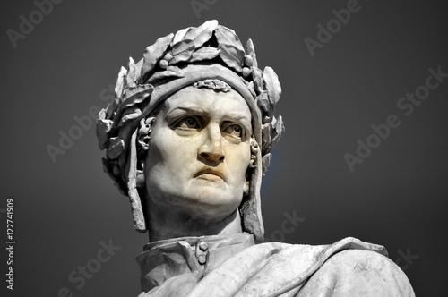 Florenz - Dante-Denkmal auf der Piazza Santa Croce Canvas Print