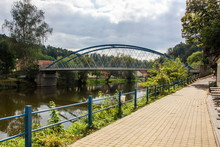 Iron Bridge, Bechyne, Czech Re...