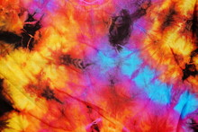 Tie Dye Fabric Pattern Multicolor Texture For Background