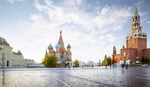 Poster Moskou Panorama of Red Square in Moscow, Russia