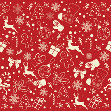 Christmas Seamless Pattern On ...