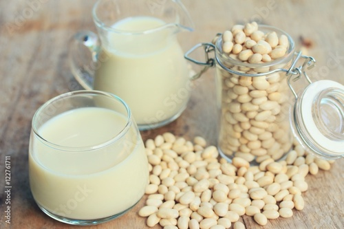 Poster Produit laitier white kidney bean with soy milk