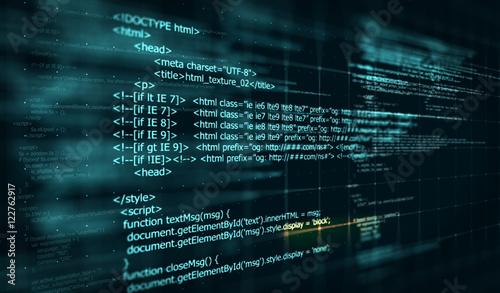 Fotografía  Code, HTML web programming  background