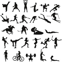 Set Of Different Sports Silhouettes