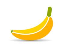 Banana Vector Icon Illustration