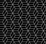 Streszczenie geometryczne kostki hipster czarno-białe poduszki wzór sześciokąt - 122780954