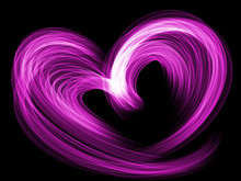 Violet Heart Lovely Grunge Background, Textured Romantic Heart Abstract Line Backdrop