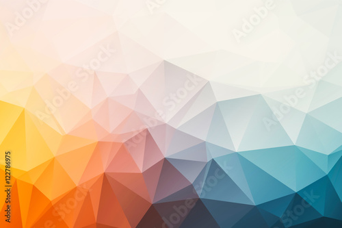 triangular abstract background Canvas Print
