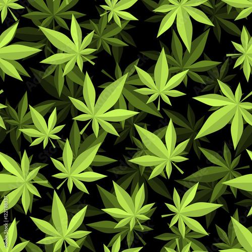 wzor-konopi-3d-tekstura-marihuany