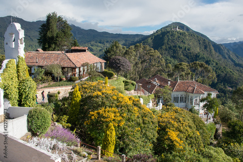 Photo Stands South America Country Monserrate Mountain