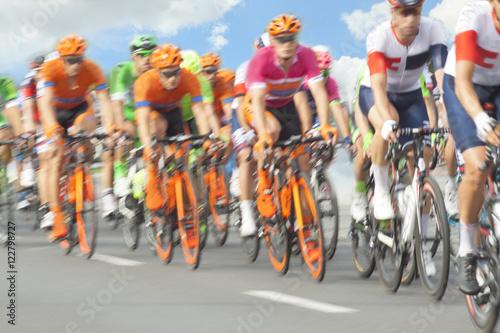 Foto op Aluminium Racing Cyclists, Motion Blur