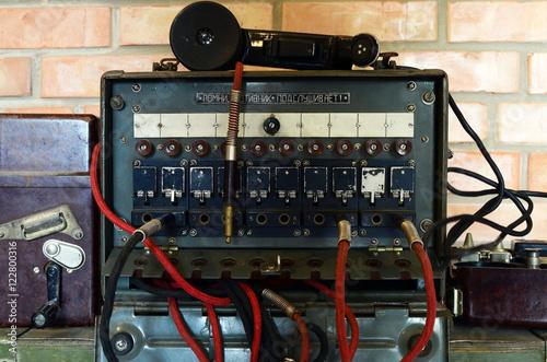 Foto op Aluminium Vintage Soviet military field telephone commutator