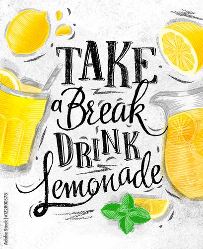Poster lemonade coal Canvas-taulu