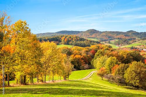 Canvas Prints Blue Bunte Herbst Landschaft in Deutschland