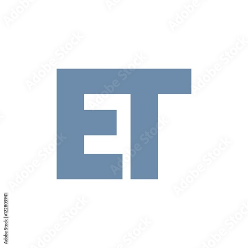 Photo  ET letter initial logo design