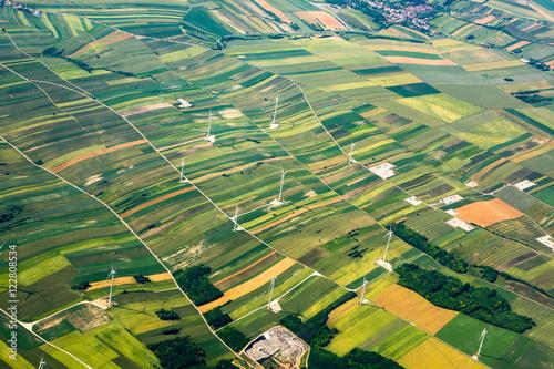 Wall Murals Air photo Aerial view of Italian Alps