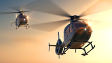 Helicopters Sunset Flight