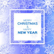 Merry Christmas And Happy New Year Origami snowflake greeting card