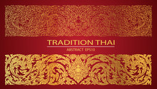 Abstract Line Thai Tradition Pattern