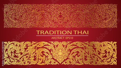 Foto abstract line thai tradition pattern