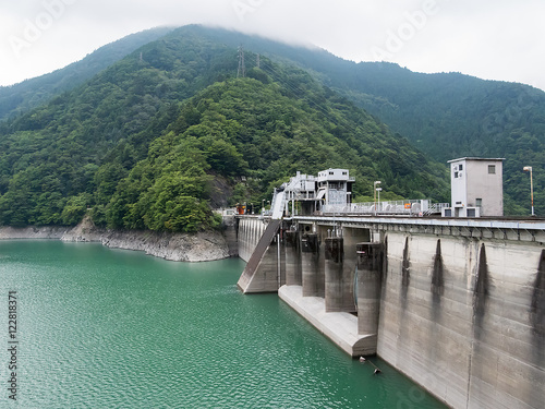 Foto op Plexiglas Dam Ikawa Dam in Shizuoka, Japan (静岡県 井川ダム)