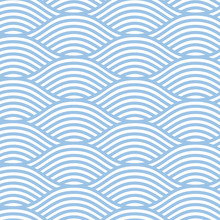 Seamless Line Wave Background Pattern