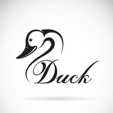 Vector Of A Duck Design On A W...