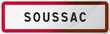 Panneau Soussac, ville de Gironde (33) - Région Nouvelle-Aquitaine - France