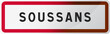 Panneau Soussans, ville de Gironde (33) - Région Nouvelle-Aquitaine - France
