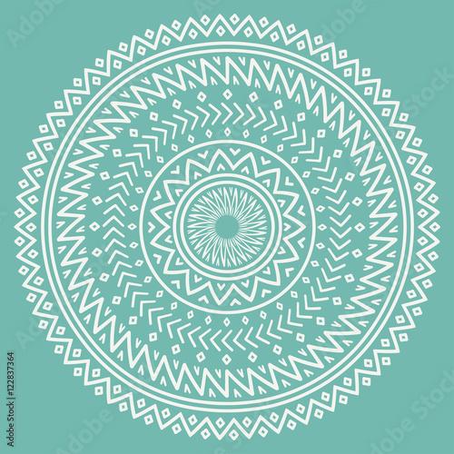 Ethnic Mandala Tribal Hand Drawn Line Geometric Seamless Pattern