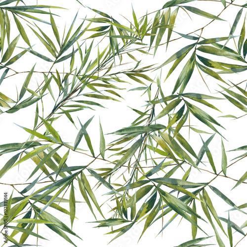 Tapety do sypialni akwarela-ilustracja-lisci-bambusa
