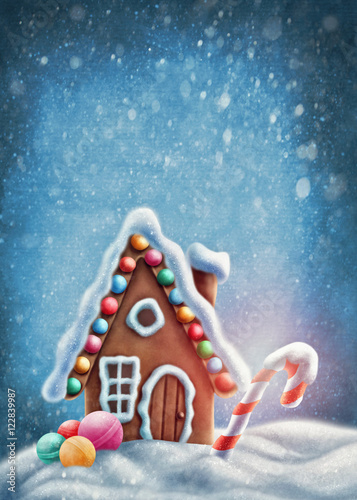 Fotografie, Obraz  Gingerbread house