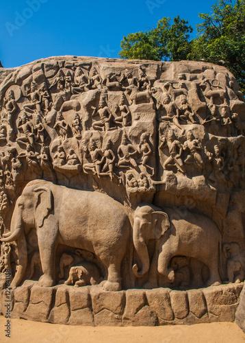 Fotografie, Obraz  Sculptures of Mamallapuram