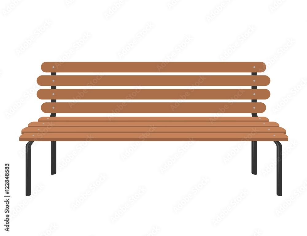 Sensational Photo Art Print Wooden Bench Isolated On White Background Pabps2019 Chair Design Images Pabps2019Com