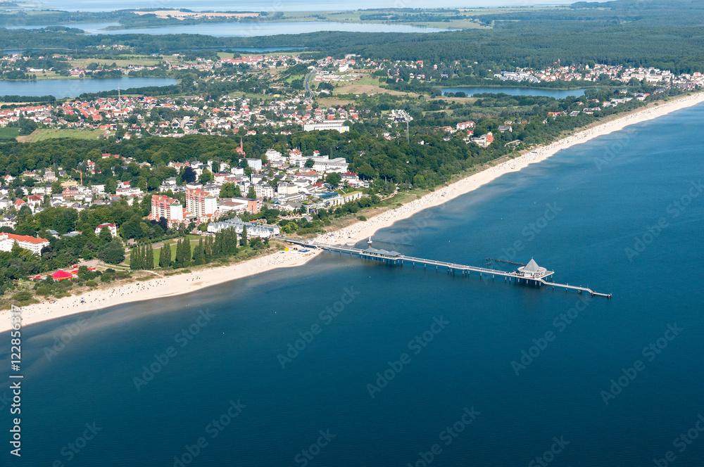 Fototapety, obrazy: Luftaufnahme von Heringsdorf auf der Insel Usedom