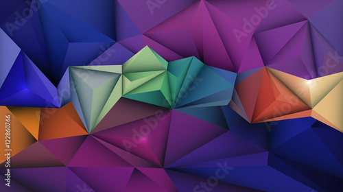 Fototapety, obrazy: Vector Abstract 3D Geometric, Polygon ( polygonal ), Triangle pattern shape. Abstract mosaic background for your content, banner, template,network and web design